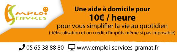 Emploi Services Gramat - aide à domicile pour moins de 10€ / heure